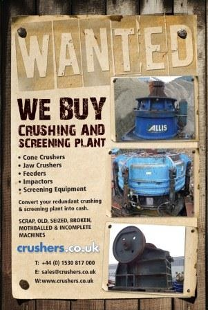 Used Crushers Wanted