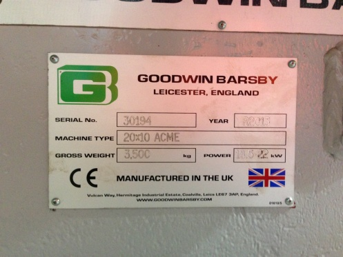 Goodwin Barsby 20x10 Acme