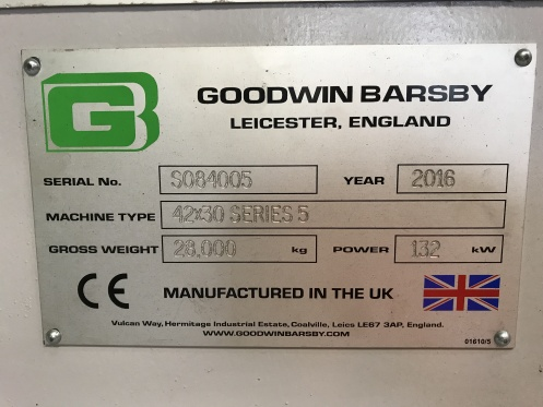 Goodwin Barsby nameplate